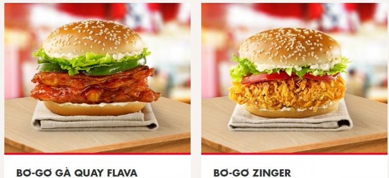 Bánh Hamburger KFC
