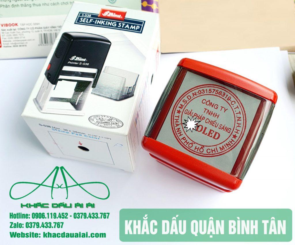 Khắc dấu quận Bình Tân, làm con dấu onine theo yêu cầu giá rẻ